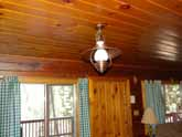 Classic cabin light fixtures throughout this beautiful Yosemite Rental Cabin